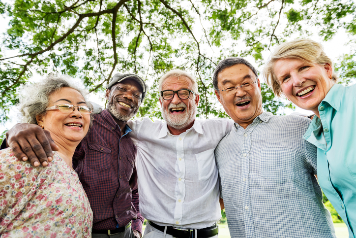 Group of Senior Retirement Discussion Meet up Concept